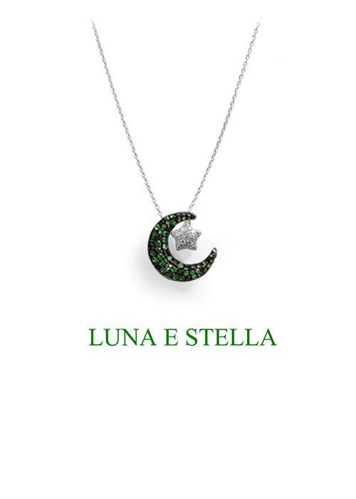 LUNA E STELLA ネックレス Green×Silver