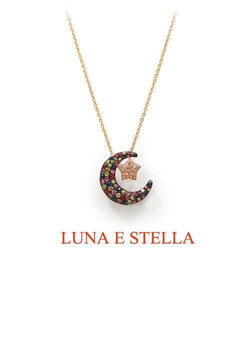 LUNA E STELLA ネックレス Multicolor