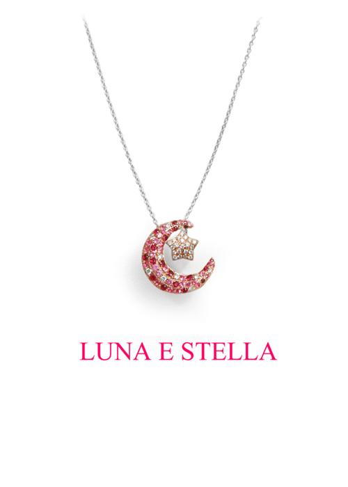 LUNA E STELLA ネックレス Pink×Pink Gold