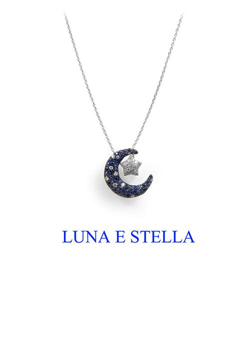 LUNA E STELLA ネックレス Blue×Silver