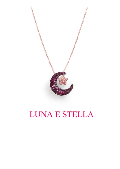 LUNA E STELLA ネックレス Ruby×Pinkgold